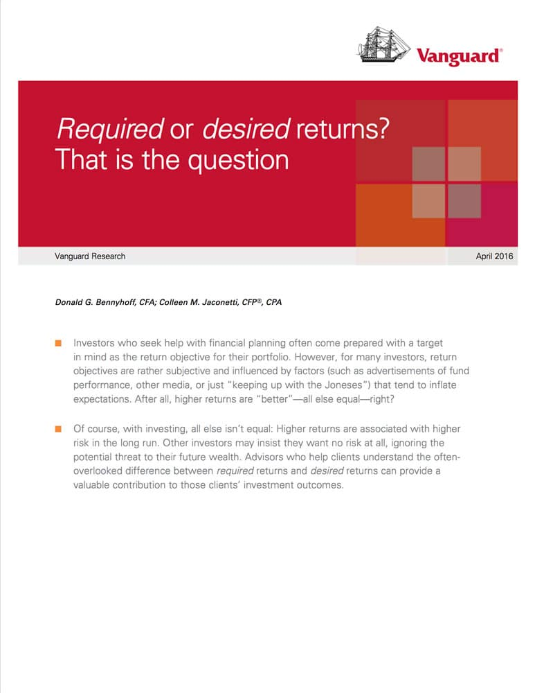 Required vs Desired Returns
